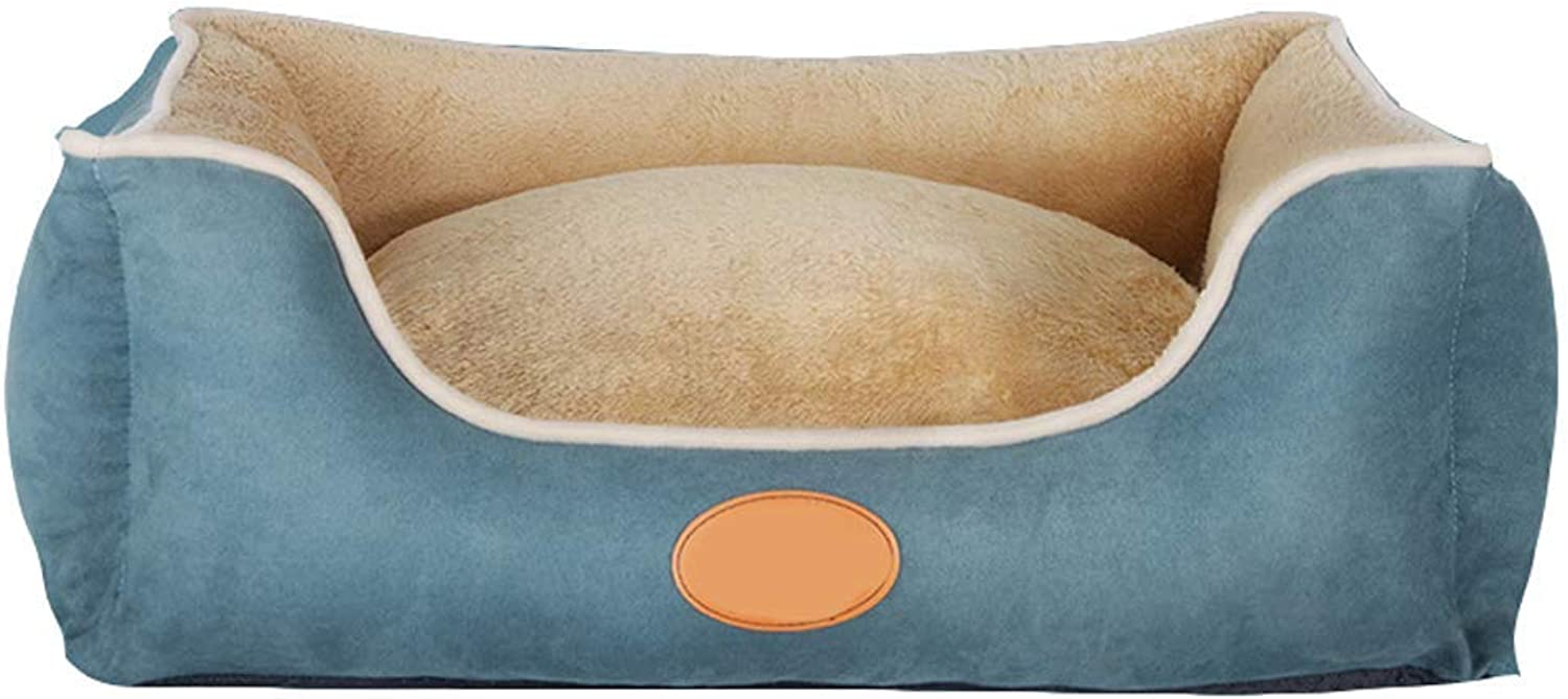 Kennel, Removable Washable Pet Bed Four Seasons Universal Pet Mat Large Mediumsized Small Dog Winter Warm Pet Supplies (color   bluee A, Size   L)