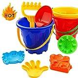 Ogquaton Juguete para niños y niñas, 7 piezas arena arena niños playa juguetes castillo pala pala rastrillo herramientas agua nuevo lanzado