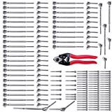 Muzata 36 Set Stainless Steel Cable Railing Kits and Cable Cutter for 1/8