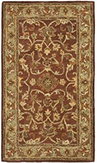 Safavieh Golden Jaipur Collection GJ250E Handmade Rust and Green Premium Wool Area Rug (2'3