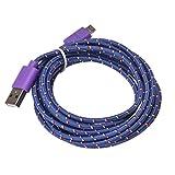 kshion 3m/304,8cm cáñamo cuerda cargador Micro USB Cable de carga y sincronización de datos cable para Samsung, Sony, Moto, HTC, Nokia, etc.