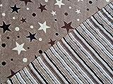 Jacquard Fleece Double Face Sterne und Streifen auf