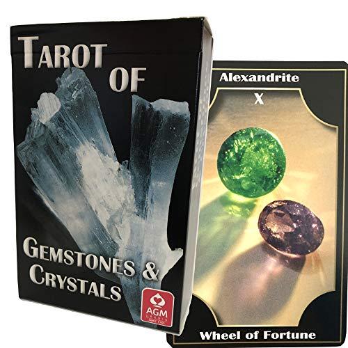 タロットカード 78枚 タロット占い 【 ジェムストーン・アンド ・クリスタルタロット  Tarot of Gemstone & Crystals 】日本語解説書付き [正規品]