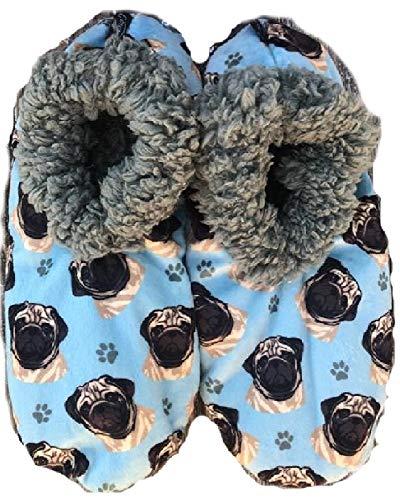Comfies Womens Pug Dog Slippers #18