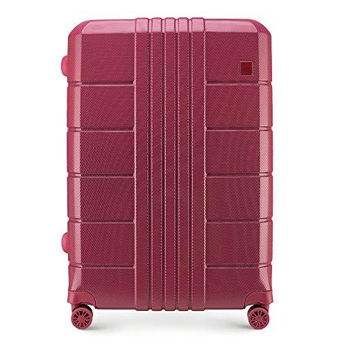WITTCHEN Koffer – Großer   hartschalen, Material: polycarbonat   hochwertiger und Stabiler   Rot...