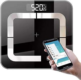 BAIDEFENG Báscula Digital De Peso Corporal, Inteligente Bluetooth Báscula Corporal Grasa BMI Báscula De Baño Pistas 7 Composiciones Clave De Fitness