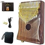 Moozica 17 teclas EQ Kalimba piano de pulgar, marimba Mbira eléctrico profesional con pastilla incorporada (K17KP-EQ (laca de piano)