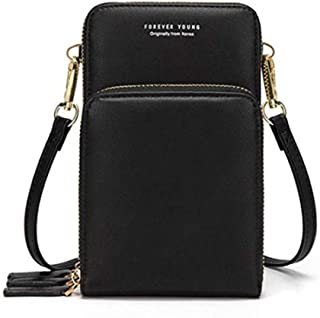 Small Crossbody Cellphone Shoulder Bags for Women with Card Slots, Smartphone Wallet Purse with Removable Shoulder Strap f...