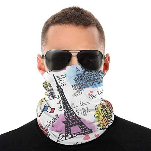 qulia Unisex Europe Painted Cover Shield Gesichtsschutz Shield Schutzschal Krawatte für Staub im Freien Sport ^ A2