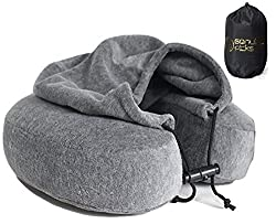 Carry-on packing list: Travel pillow with hood and removable cover