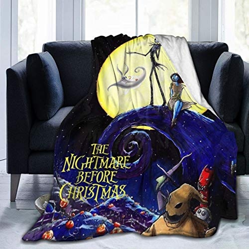 "Bestrgi Ultra-Soft Micro Fleece Blanket Nig-ht-ma-re Blankets Before Gift Super Plush Christmas Cartoon Home Decor Warm Throw Blanket for Couch Bed Sofa for Adult and Kids Boys Girls 50""x40"""