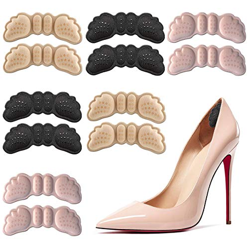 6 Pairs Heel Grips for Women Heel Cushion Inserts for Shoes Too Big Inserts for Loose Shoes Self-Adhesive Heel Pads Heel Protectors Improve Shoe Fit and Comfort