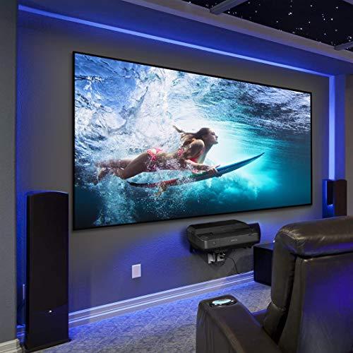 HiViLux Ultra Thin RahmenLeinwand Kinofolie Weiss Tuch: HiViWhite Cinema 1,0 Gain 1,0 8K/4K/3D (16:9 Bild:221x124cm 100
