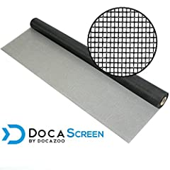 PERFECT FIBERGLASS MESH WINDOW SCREENING for all screening applications: new and replacement window screens, window screen repair, screen door, porch screen, patio screening, insect screening, pet screen, patio screen repair, and other professional a...