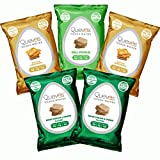 Variety Five Pack of Quevos Keto Flavors - Low Carb Egg White Chips - Crunchy High Protein, Keto Snacks - Gluten Free Grain Free and High Fiber, Perfect for Any Diet (1.1 oz Each - 5 pack)