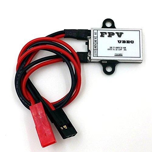 ZHFENG Fuente de alimentación de transmisión de Imagen FPV UBEC/FPV BEC/UBEC 12V Accesorios Herramientas de Bricolaje