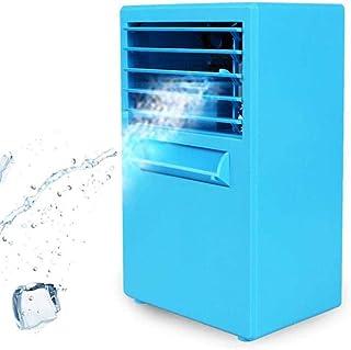 HZY Aire acondicionado portátil del ventilador mini refrigerador evaporativo 3 Silenciar la velocidad del viento velocidad con spray Plus hidratante for la piel Ministerio del Interior, Azul, Color: B