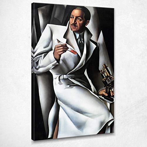 Ritratto di Dr. Boucard Tamara De Lempicka Quadro su Tela 100x60 Cm - Lmt21