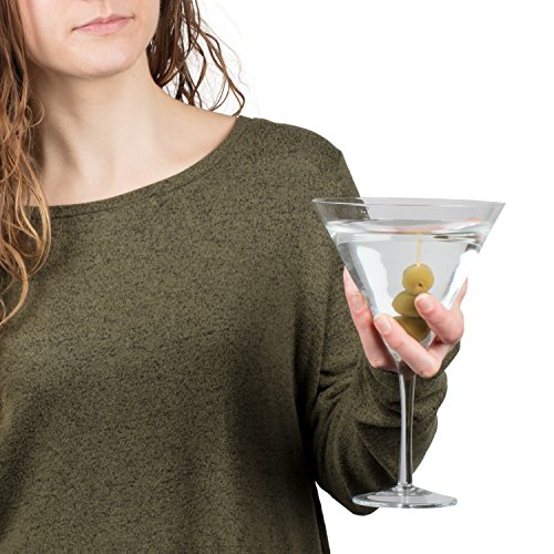 SCS Direct Oversized XL Giant Martini Cocktail Glass -25oz (760ml)