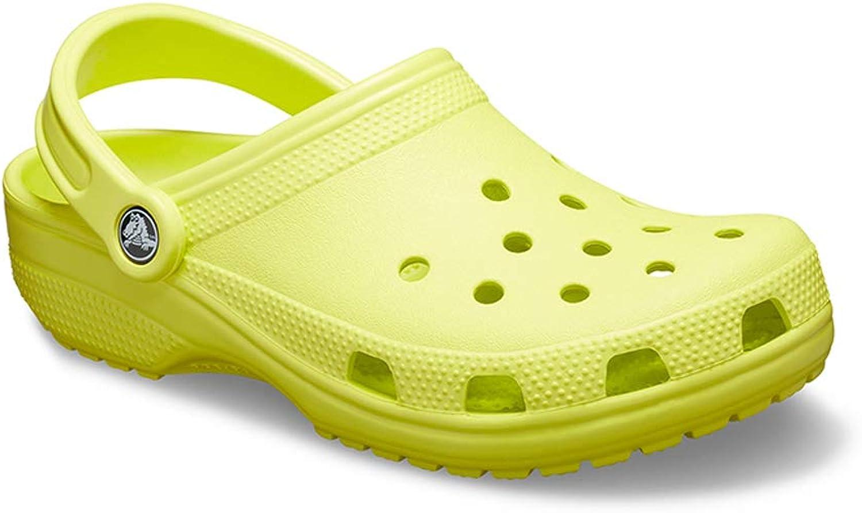 Unisex Loch Schuhe, Sommer Flache Sandalen, Rutschfeste Sohle Freizeit Urlaub Strandschuhe Flip Flops Mehrfarbig Optional,Gelb,39