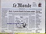 MONDE (LE) [No 16555] du 18/04/1998 - RUSSIE - LE POUVOIR EBRANLE D'UN HOMME MALADE - L'EUROPE DE M. CHIRAC - JEUNES DELINQUANTS - ENQETE JUDICIAIRE SUR L'ATTRIBUTION D'UN MARCHE PAR LA MAIRIE FN DE TOULON.