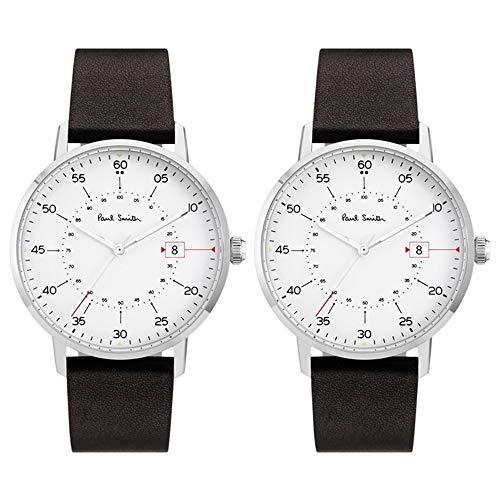 [ポールスミス]PAUL SMITH ペアウォッチ 収納BOX 日付 カレンダー 時計 白 文字盤 ダークブラウン P10072P10072 腕時計 [並行輸入品]