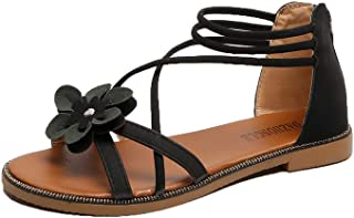VOCANU TRE 夏季凉鞋韩版时尚露趾平跟低帮鞋女鞋 罗马凉鞋拖鞋驾车鞋