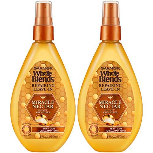Garnier Whole Blends Honey Treasures Miracle Nectar Repairing Leave-in Treatment, 2 Count