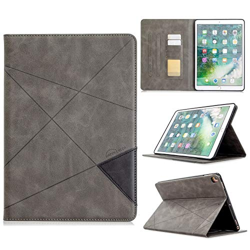 YANCAI Case Cover Vertical Prismatic Tablet Case Suitable for IPAD PRO 10.2 10.5 2017/2019 Case. Advanced PU Leather Case With Automatic Wake-up/sleep Function [with Card Slot] (Color : Gray)