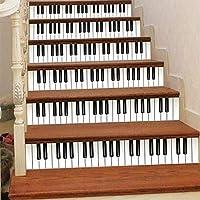 3D防水ピアノ階段ステッカー-PVC粘着性DIYペーパーウォールステッカー取り外し可能自己粘着性装飾階段ライジングステッカー