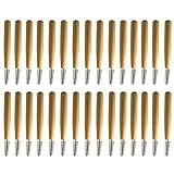 EXCEART 30Pcs Pics Interdentaires Manche en Bambou Brosse Dentaire Pics Double Tête Soie Dentaire Nettoyants Interdentaires pour Hommes Femmes