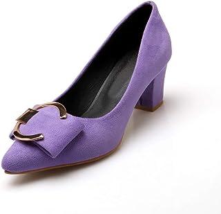 BalaMasa Womens APL12012 Pu Block Heels