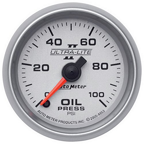 Auto Meter 4953 Ultra-Lite II 2-1 16  0-100 PSI Full Sweep Electric Oil Pressure Gauge