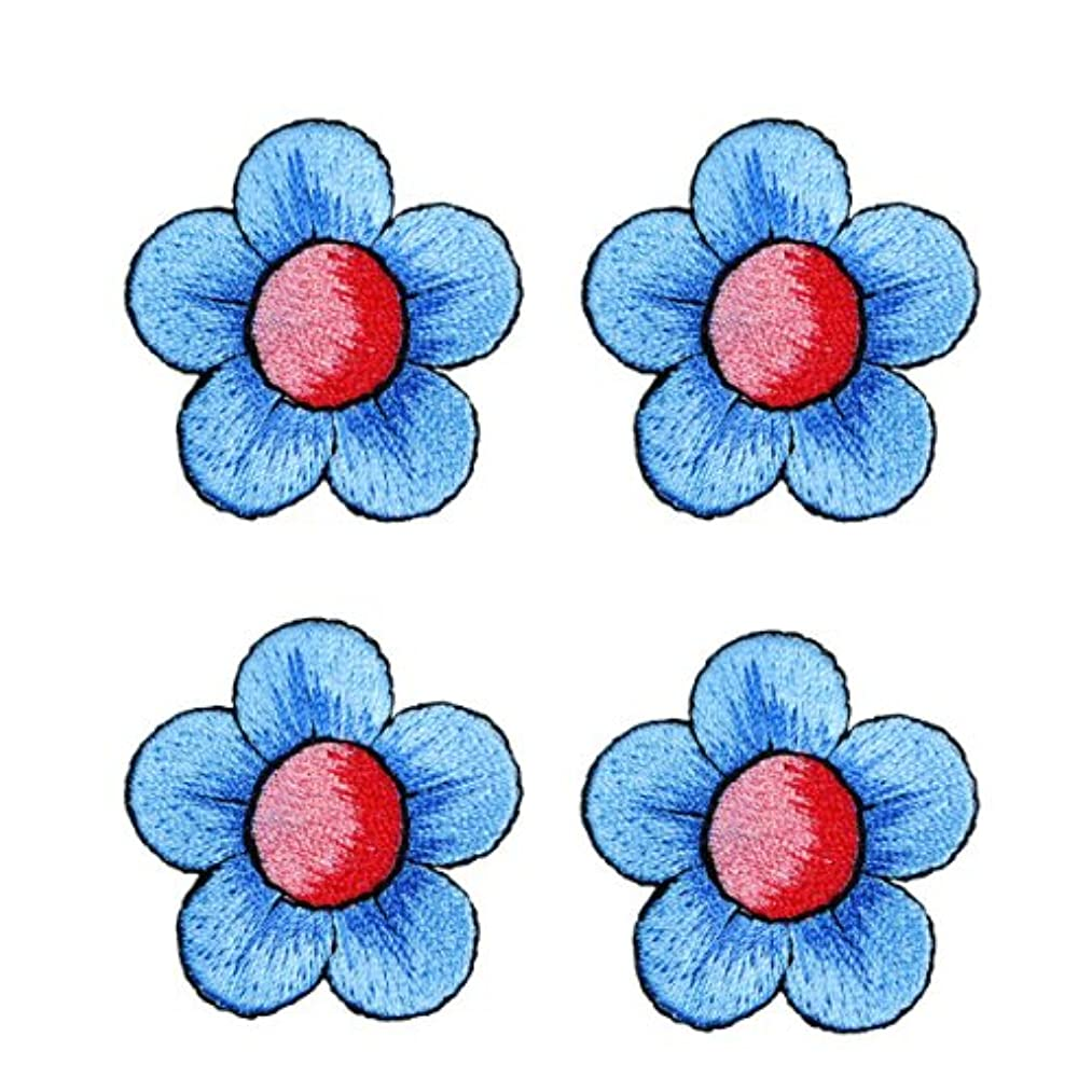 Expo BZP77519 Iron-on Embroidered Applique Patches, BaZooples Flower, 4-Pack