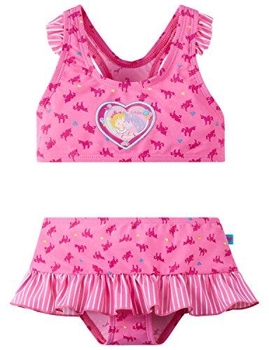 Schiesser Mädchen Prinzessin Lillifee Bustier-Bikini Badebekleidungsset, Rot (Rosé 506), 92 (Herstellergröße: 092)