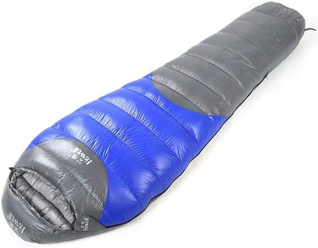 FFJJQAN Sacs de Couchage rectangulaires Duvet de Canard léger pour Adulte en Plein air, Bleu Saphir 190  80 Sac de Couchage sarcophage ultraléger