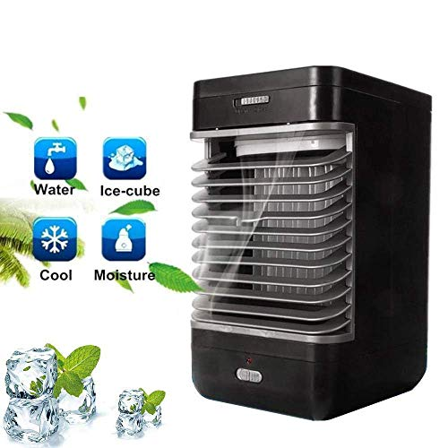 Sunny Mini-Luftkühler, tragbares Mini-Raumklimagerät mit Luftkühler Kleiner Luftbefeuchter mit tragbarem Handgriff für Heim-, Büro- und Außenbereich