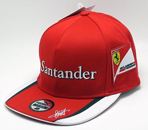 Ferrari Scuderia Ferrari Sebastian Vettel ala plana gorra 2015
