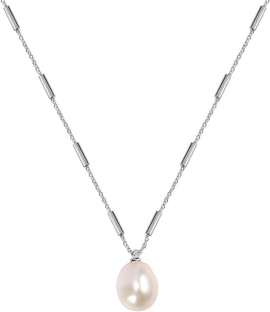 Morellato,collana per donna, in acciaio e perla naturale SARI10
