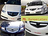 SF Sales USA - Chrome Front Bumper Letters for Acura TL 2004-2008 Plastic Inserts Not Decals
