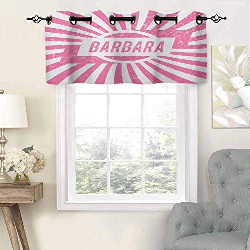 Blackout Curtains Valance with Grommets Radial Background with Name in Rectangle in The Middle Grunge Illustration, Set of 1, 50'x18' for Living Room Bedroom Home Decor