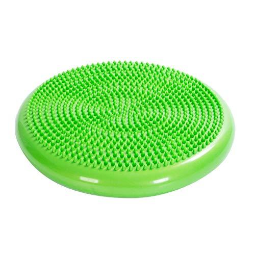 Yoga inflable bola de masaje duradero Universal Yoga Deportes gimnasia de la estera del amortiguador Wobble estabilidad de la balanza de disco Masaje Esterilla de yoga impermeable ( Color : Brown )