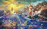 Zheng DIY 5D Diamond Painting Kits de perforación Rhinestone Serie sirena Ⅰ - Picture Arts Craft para la decoración de la Pared del hogar