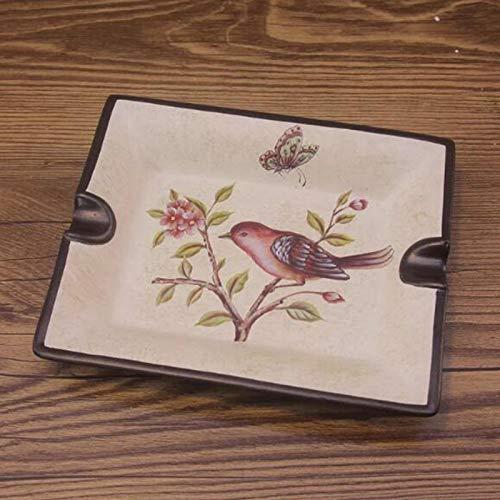 Zhenwo Kreativ Bemalte Keramik Aschenbecher des Europäischen Retro-Aschenbecher,A