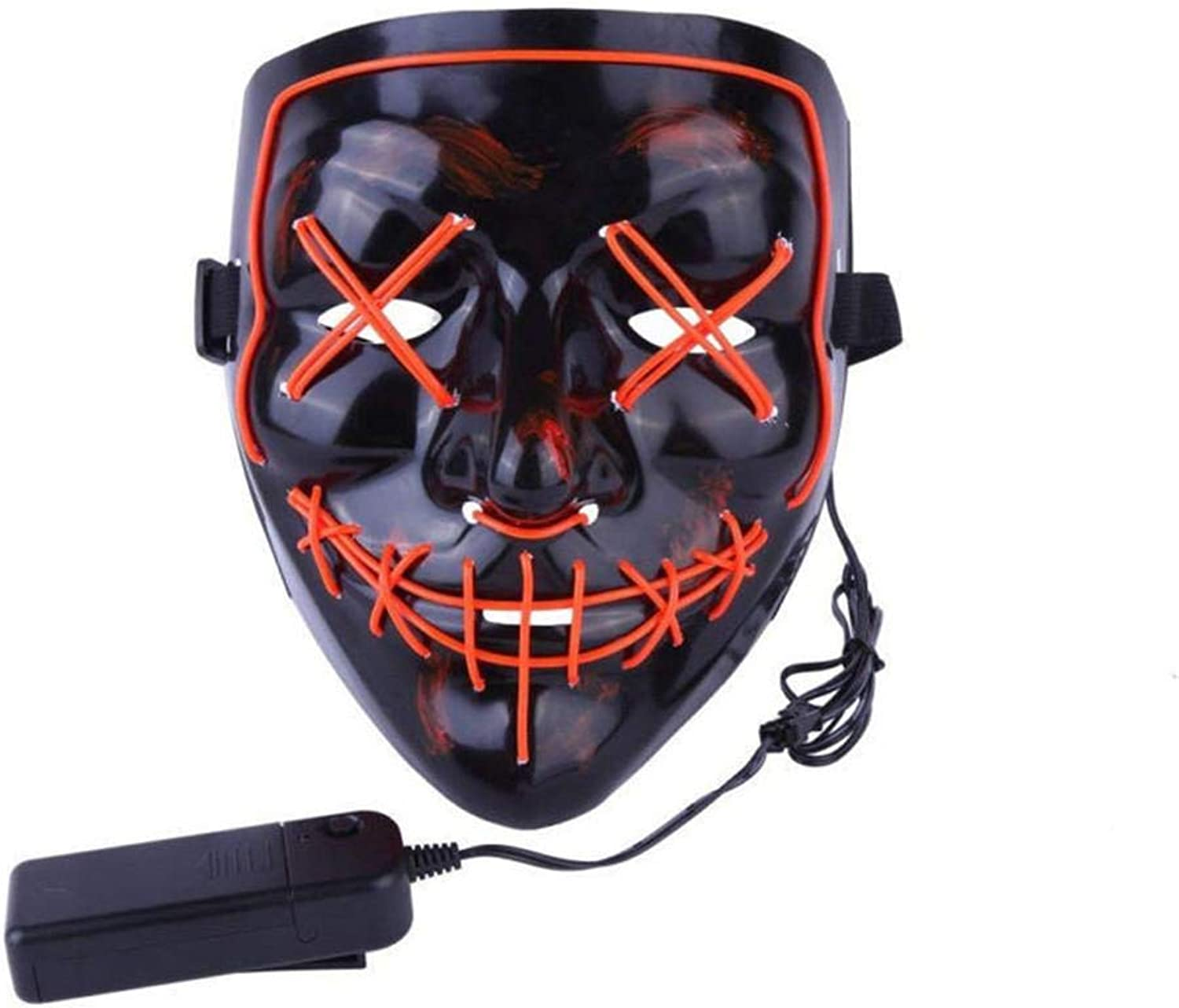 Arfula LED Grimasse Horror Glowing Mask Party Maske, Halloween Rolle Dress Up Coole Maske, Geist Tanzparty Party B07PGJQDGF  Einzigartig     | Online Kaufen