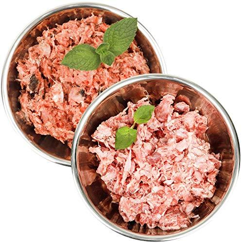 Barf-Snack biologisch artgerechtes Rohfutter für Hunde & Katzen - Sparpaket mit Fisch & Ente Frostfleisch/Gefrierfutter