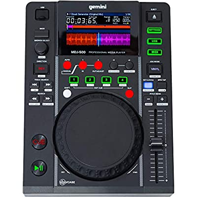 Gemini MDJ-500 CD Player MP3 Slot USB Disp.Lcd