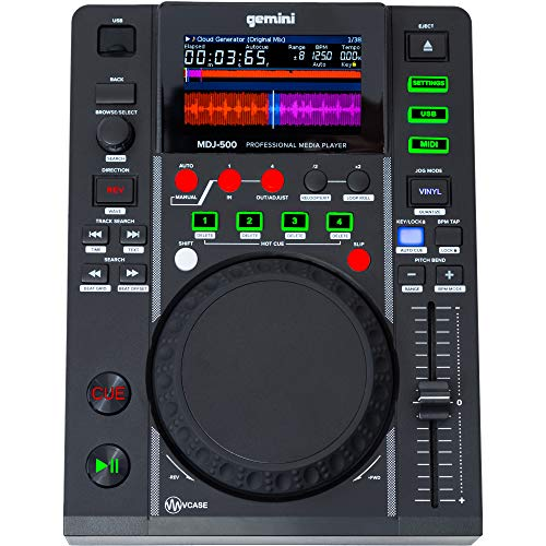Gemini MDJ-500 - Reproductor de CD (Ranura para MP3, USB)