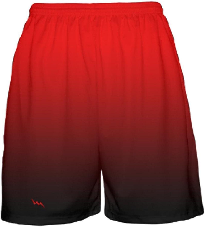 LightningWear Red Black Fade Basketball Shorts  Ombre Basketball Short  Youth Basketball Shorts