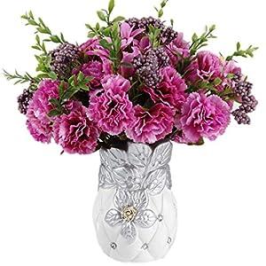 BreTT1QIN9 Artificial Flower1Pc Artificial Flower Carnation Home Garden Wedding Arrangement Party DIY Decor – Rose Red
